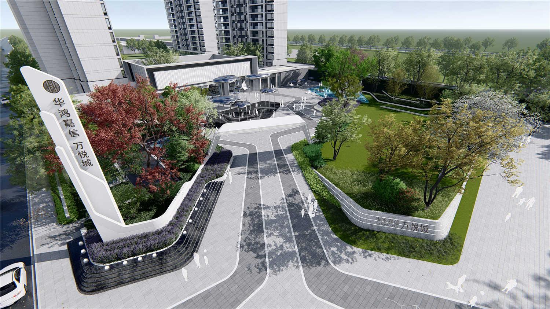 精神堡垒现代_华鸿万悦城-美尚奖项目展示-地产线-全球设计生活美学平台